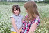 Woman with a little girl — Stock Photo