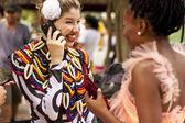 Costume phone talking — Stock Photo