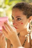 Circus makeup — Stock Photo