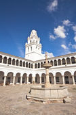 San Francisco Xavier University, Sucre, Bolivia — Stock Photo