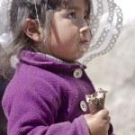 Peruvian girl eating ice-cream — Stock Photo #45949831