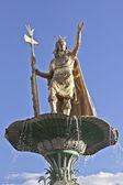 Inca Pachacutec statue — Stock Photo