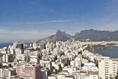 Exibição de famosos bairros do rio de janeiro copacabana — Fotografia Stock