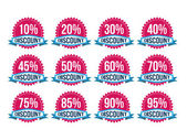 Vintage Classic Discount Badges — Vetorial Stock