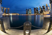 Singapore City Shot During Blue Hour — Stock Photo