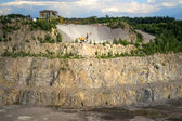 Quarry on getting of granite — Stock Photo