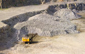 Machine at the quarry for the extraction of granite — Stock Photo