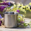 Hiking steel mug — Stock Photo #50326267