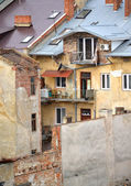 Slums in the city of Lvov, Ukraine January 11, 2014 — Stock Photo