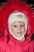 Menina de vermelho — Foto Stock
