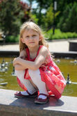 Blonde in the park — Stock Photo