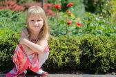 Rubia en el parque — Foto de Stock