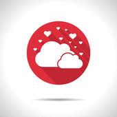 Vector cloud hearts icon. Eps10 — Stock Vector