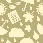 Vector seamless autumn pattern — Vettoriale Stock