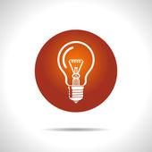 Vector light lamp icon. Eps10 — Stock Vector