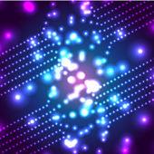 Vector glowing  micro cosmos background. Eps10 — Stock Vector