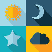 Vector weather set icon. Eps10 — Stock Vector