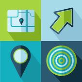 Vector travel set icons — Vecteur