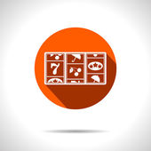 Vector orange slot icon. Eps10 — Stock Vector