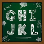 Vector chalk drawing alphabet — Vettoriale Stock