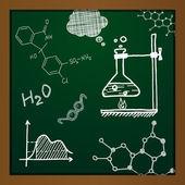 矢量粉笔绘制化学元素 — 图库矢量图片