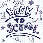 Vector back to school — Stock Vector