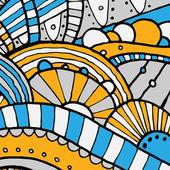 Vector hand draw ethnic background — Stock Vector