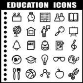 ícones de educação — Vetorial Stock
