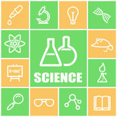 Science icons — Stock Vector