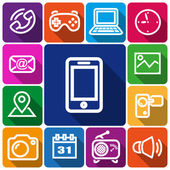 ícones de smartphone — Vetorial Stock