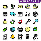 25 web icons — Stockvector