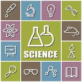 Science icons — ストックベクタ