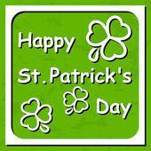 Happy St. Patrick's Day - Greeting card — Stockvektor