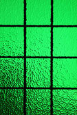 Green stained glass window — Stock Photo