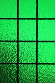 Green stained glass window — Foto de Stock