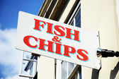 Fish and chips sign — Stock Photo