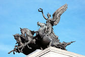 Quadriga placerad på wellington arch — Stockfoto