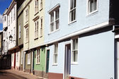Georgian and old medieval terraced houses — Stock Photo