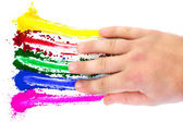 Finger Painting Spectrum — Stock Photo