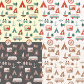 Set of touristic patterns — Vector de stock