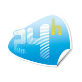 24h sticker — Stock Vector