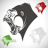 Cartoon gorilla — Stock Vector
