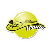 テニス ボールの背景 — ストックベクタ