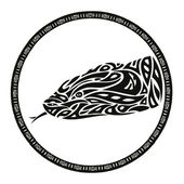 Tribal anaconda snake tattoo — Stock Vector