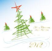 Noel ve yeni yıl kartı — Stok Vektör