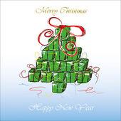 クリスマスと新年のカード — ストックベクタ