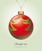 árbol de navidad bolas — Vector de stock