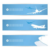 Air traffic headers — Stock Vector