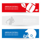 American football headers — Stock Vector