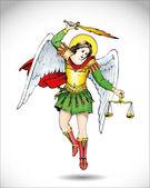 Michael the Archangel — Stock Vector
